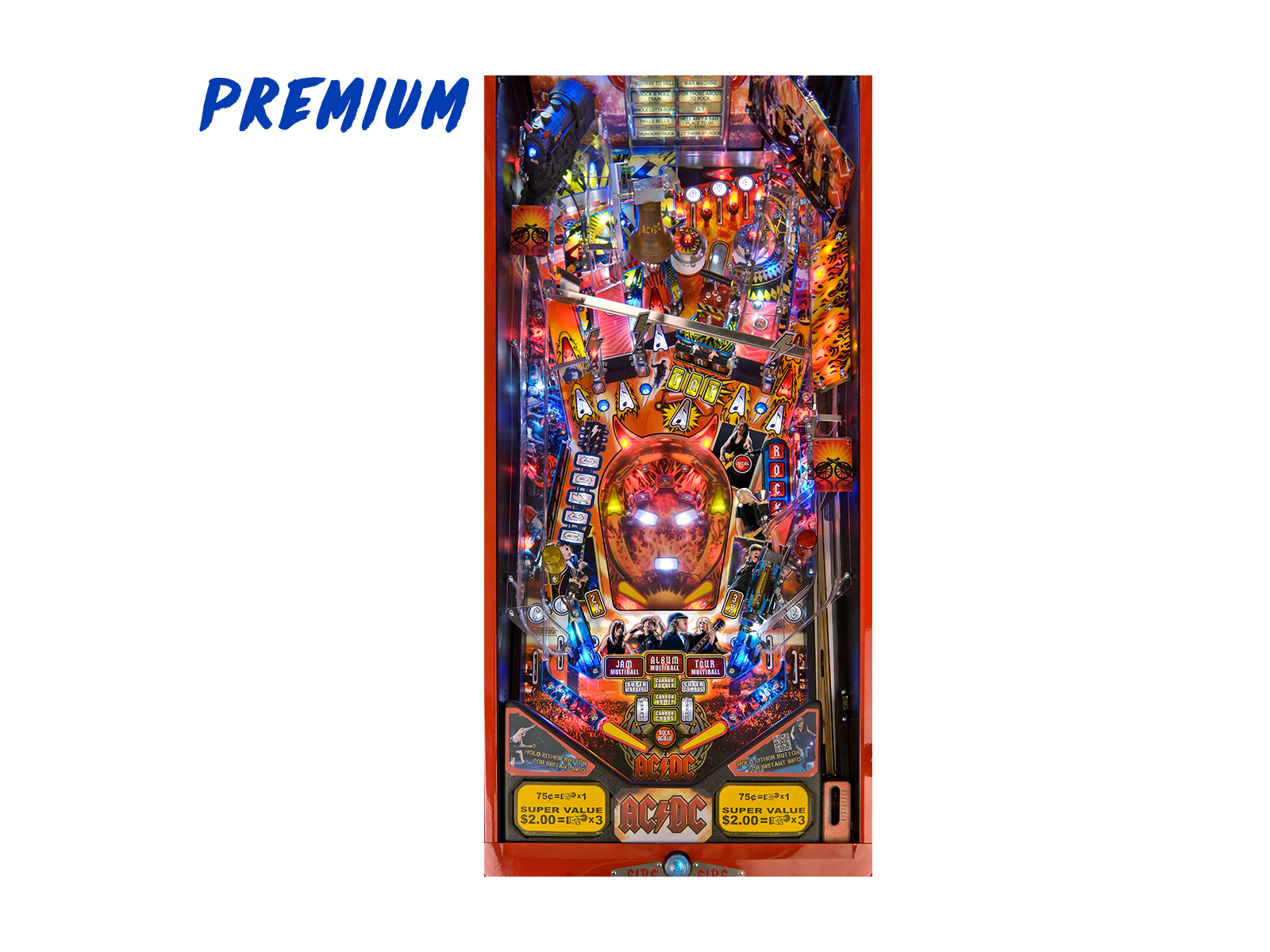 Acdc pinball premium edition playfield by stern pinball