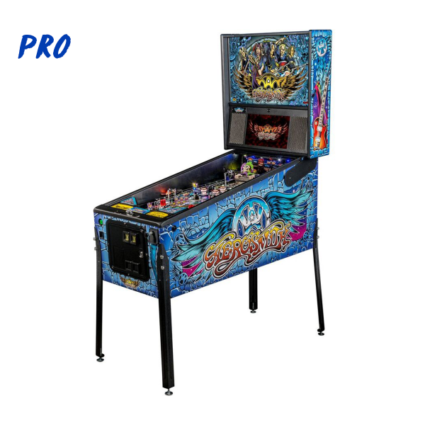 Aerosmith Pinball Pro Edition Full Side by Stern Pinball