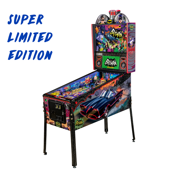 Batman 66 'Anniversary Edition' Pinball Super Limited Edition Full Side by Stern Pinball