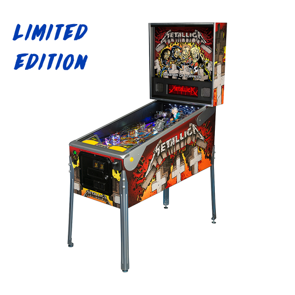 Metallica Pinball Limited Edition Full Side by Stern Pinball