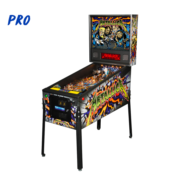 Metallica Pinball Pro Edition Full Side by Stern Pinball