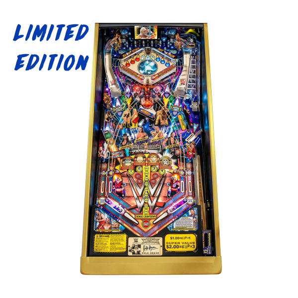 WWE WrestleMania Pinball Limited Edition Playfield by Stern Pinball