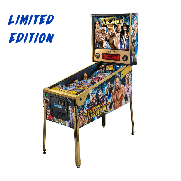 WWE WrestleMania Pinball Limited Edition Full Side by Stern Pinball