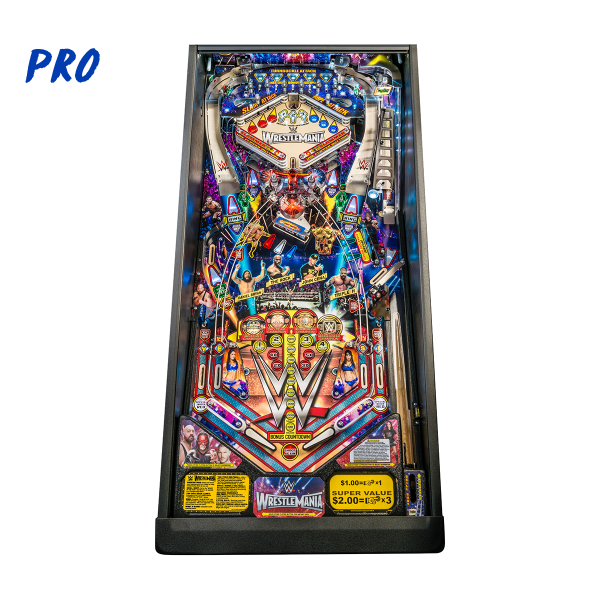 WWE WrestleMania Pinball Pro Edition Playfield by Stern Pinball
