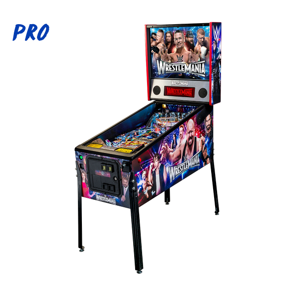 WrestleMania Pinball Pro Edition Full Side by Stern Pinball