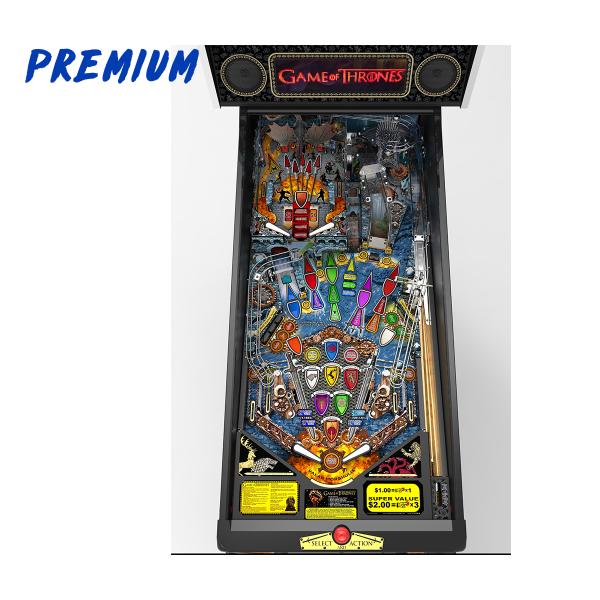 Game of Thrones Pinball Premium Edition Playfield by Stern Pinball