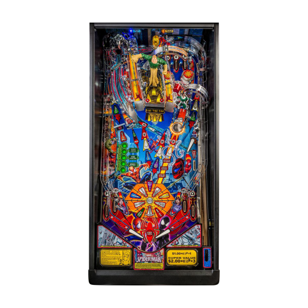 Spider-Man Pinball Playfield by Stern Pinball