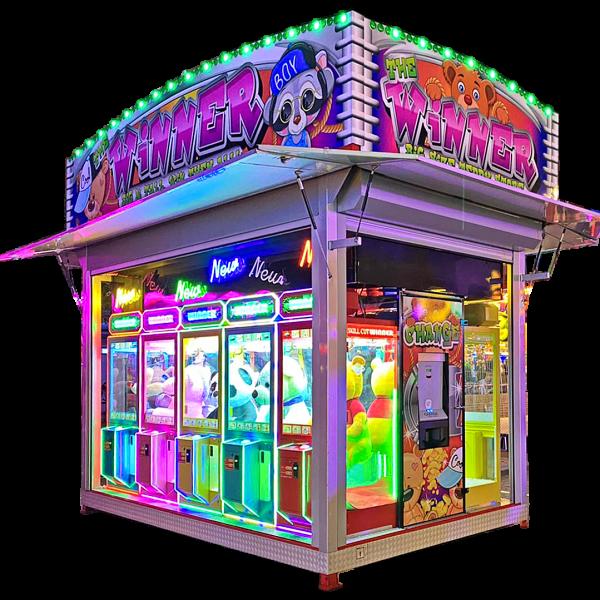 Electrocoin's Skill Cut Winner in a trailer for Fun Fairs