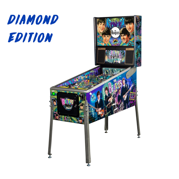 Beatles Pinball Diamond Edition Full Side by Stern Pinball