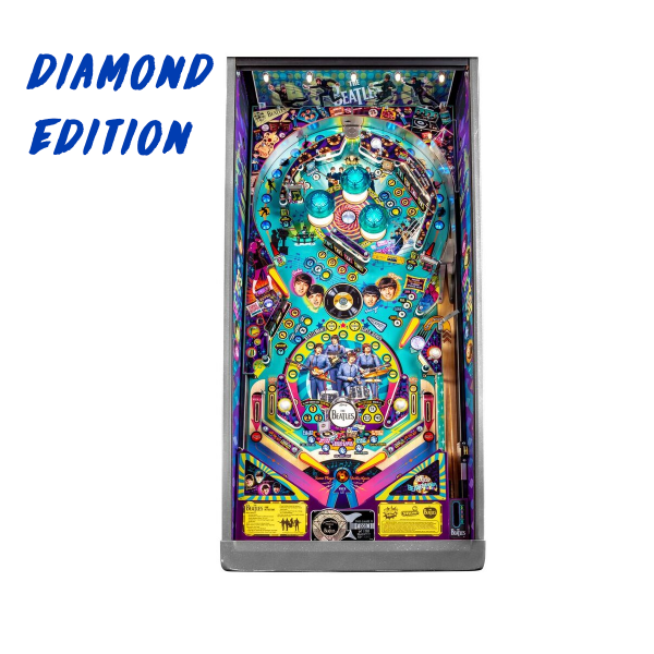 Beatles Pinball Diamond Edition Playfield by Stern Pinball
