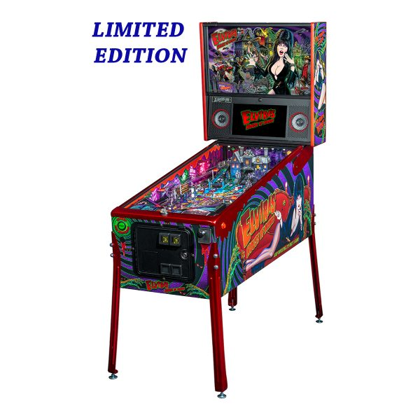 Elvira's House of Horror Pinball Limited Edition Full Side by Stern Pinball