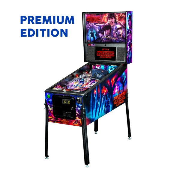 Stranger Things Pinball Premium Edition Full Side by Stern Pinball