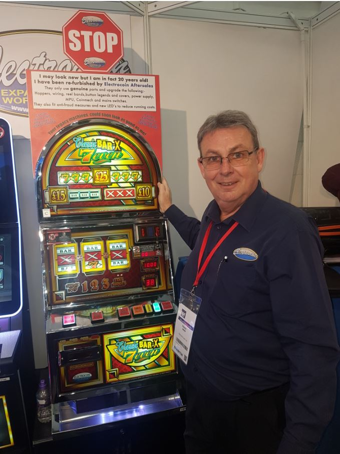 Kevin Weir with the refurbished Bar-X 7even - Electrocoin Aftersales