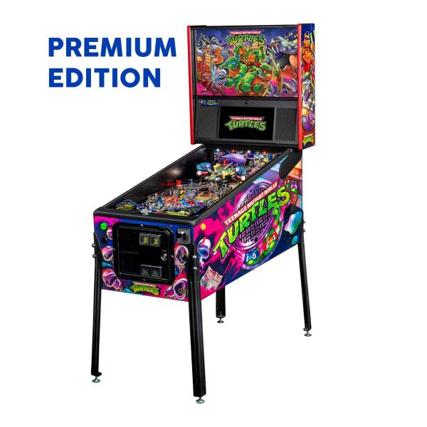 Teenage Mutant Ninja Turtle Premium Edition Pinball Full Side by Stern Pinball