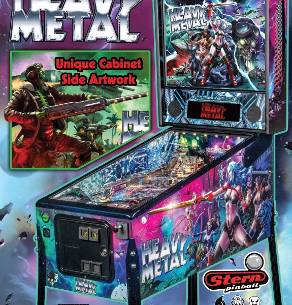 Heavy Metal Limited Edition Pinball Official Brochure by Stern Pinball and Incendium Page 1