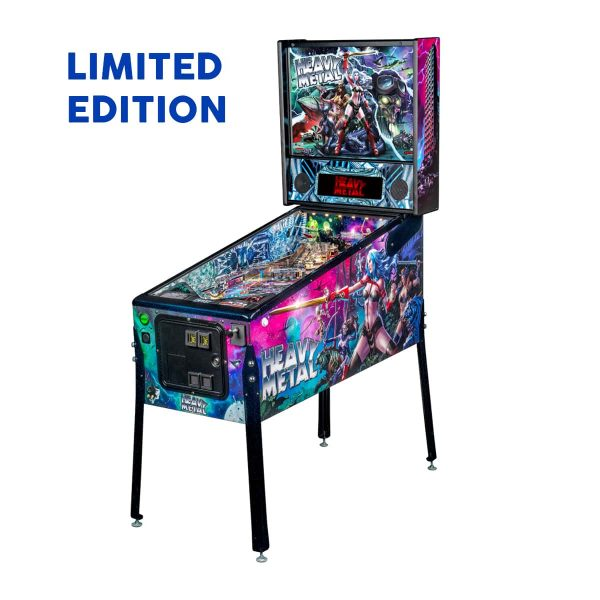 Heavy Metal Limited Edition Pinball Left Side by Stern Pinball and Incendium