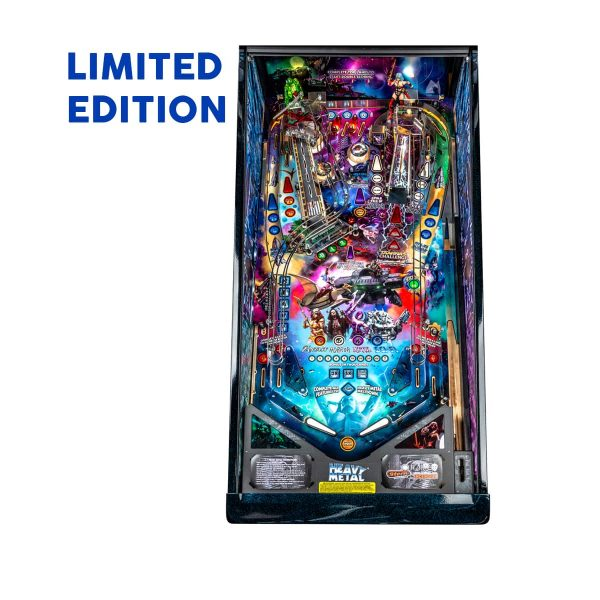 Heavy Metal Limited Edition Pinball Play-field by Stern Pinball and Incendium